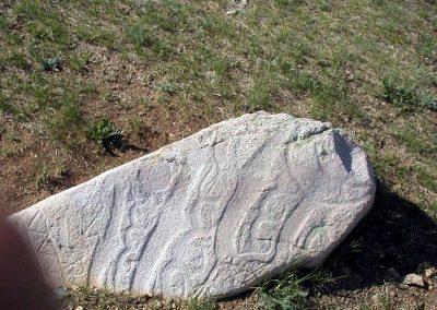 deer stone from arkhangai aimag mongolia