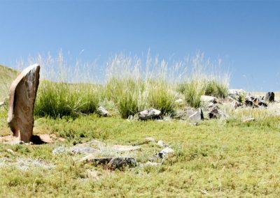 deer stone - hustai national park - mongolia