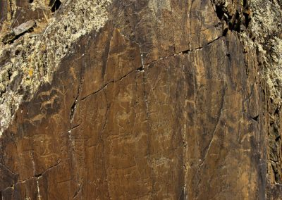 multi carvings - kuljabasy valley - mongolia