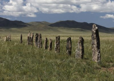 ongot row - hustai national park - mongolia