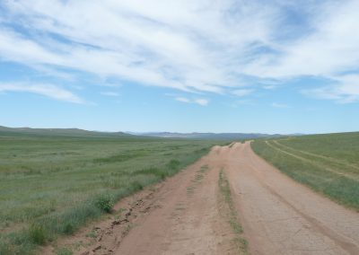 road - hustai national park - mongolia