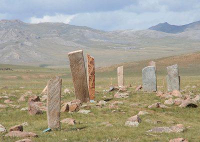 uushgiin ovor deer stone site near mrn khovsgol aimag mongolia