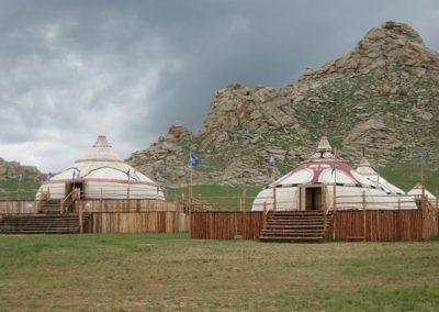 yurts - khanggai ranges - mongolia